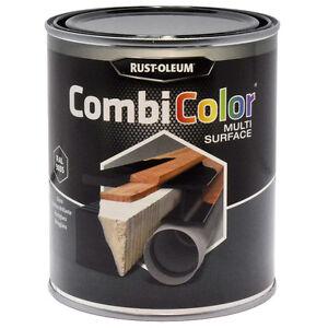 Rust-Oleum CombiColor Multi-Surface Brush Paint 750ml Gloss Black RAL9005