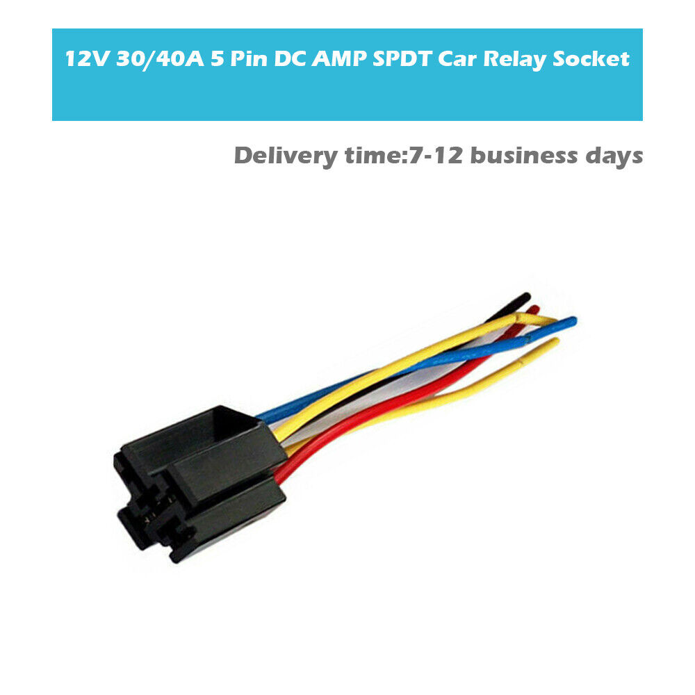 DC 12V Volt 30A 40A 5 Pin Automobile Truck Car Relay 5 Wires ... aircraft wire harness eBay
