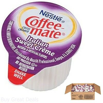 Coffee-One of a pair Coffee Creamer, Italian Sweet Creme Liquid Singles Pack Of 180