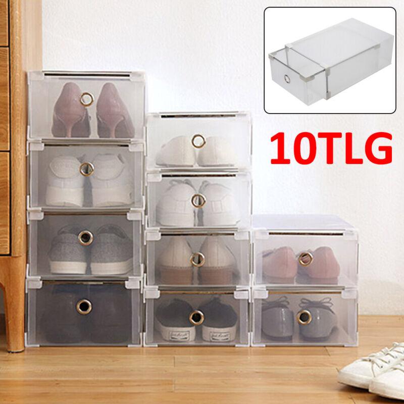 10x Aufbewahrungsbox Stapelbox Schuhbox Schuhkarton Box Allzweckbox Schublade