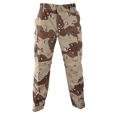 - 6 Color Desert Pants BDU NYCO Twill Desert Camo Trousers