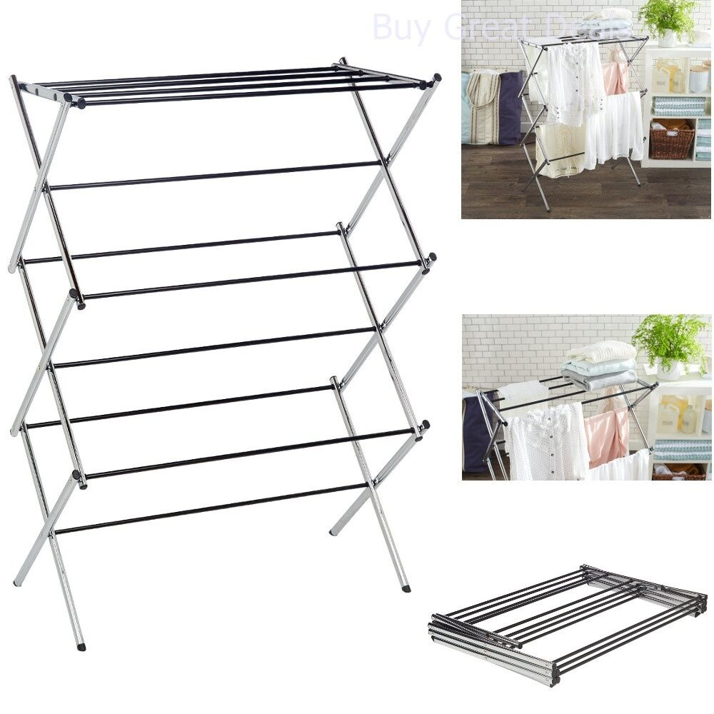 Clothes Drying Rack Laundry Folding Hanger Dryer Indoor