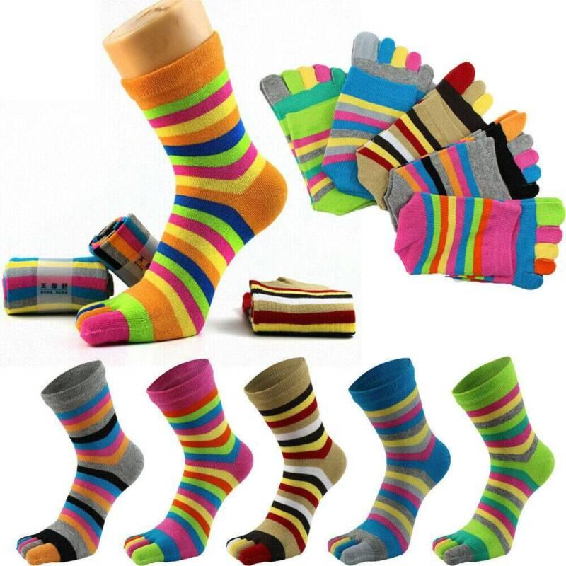 Women Girls Fashion five finger toe Socks Ankle Casual Sport