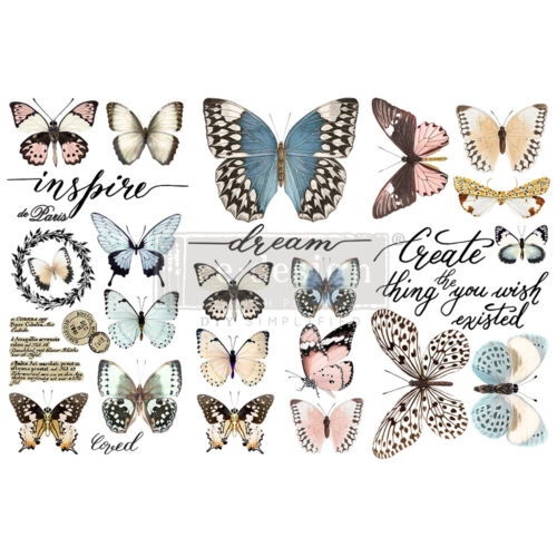"""Prima Redesign Papillon Collection Transfer Butterfly 6""""x12"""" #653385 new release"""