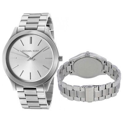 New Michael Kors MK3178 Women's Runway Silver Dial Stainless Steel 42mm Watch