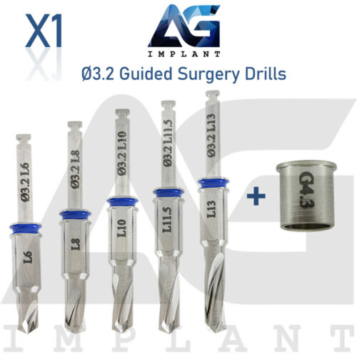 Ø3.2 Guided Surgery Straight Drill External Irrigation Tool Dental Implant