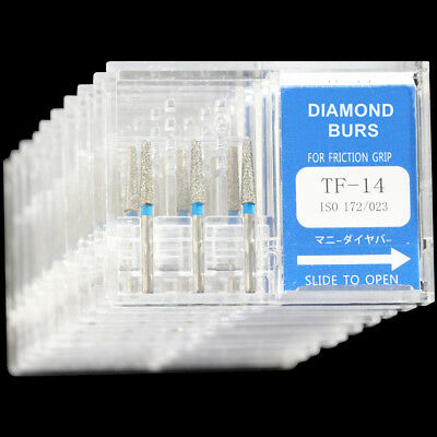 10 Boxes Tf-14 Mani Dia-burs Fg 1.6mm Dental High Speed Handpiece Diamond Bur