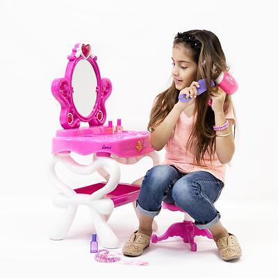 Dimple® Princess Vanity Set with 16 Hair & Makeup Acc  Piano & Flashing Lights