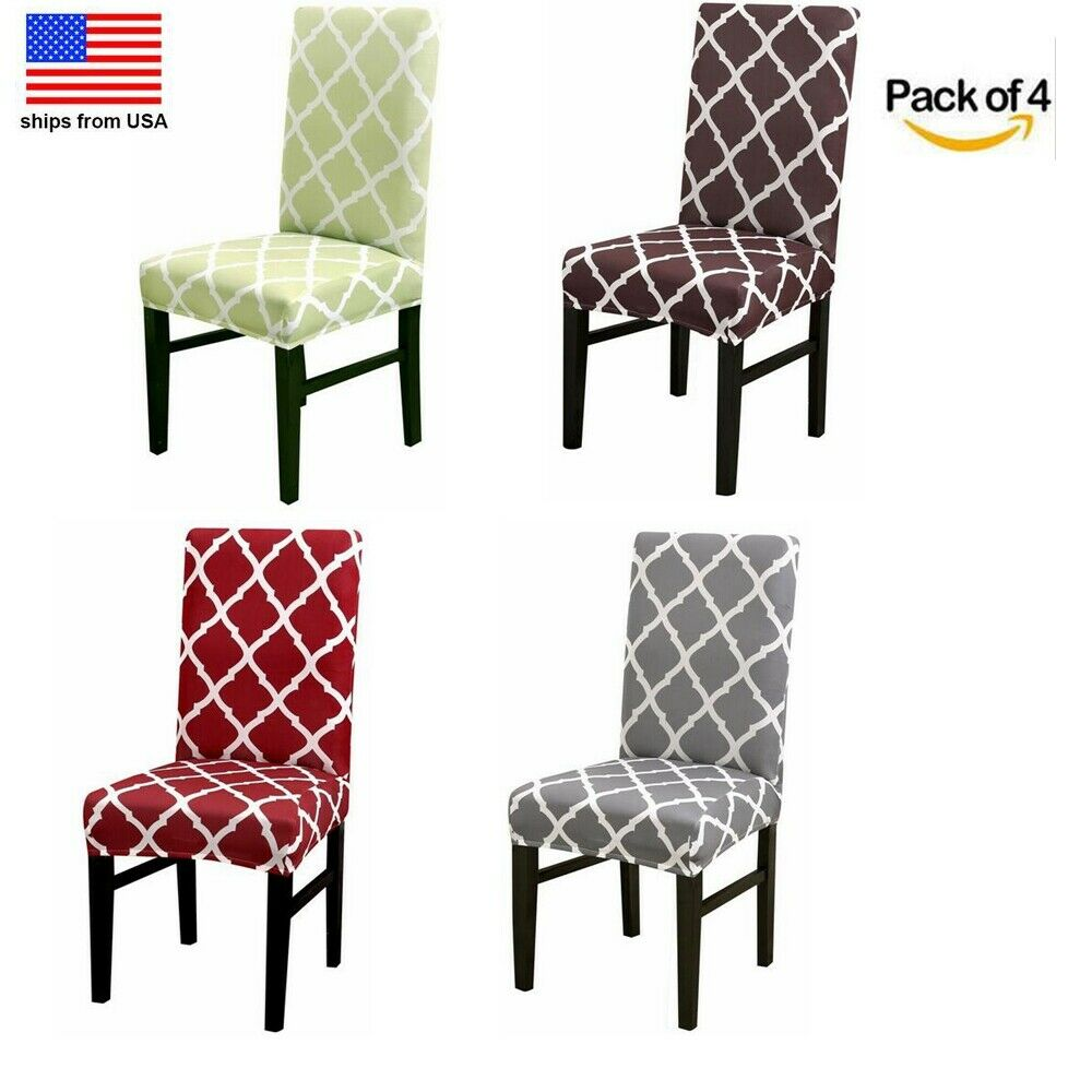 4Pcs Dining Chair Cover Stretch Seat Protector for Kitchen H