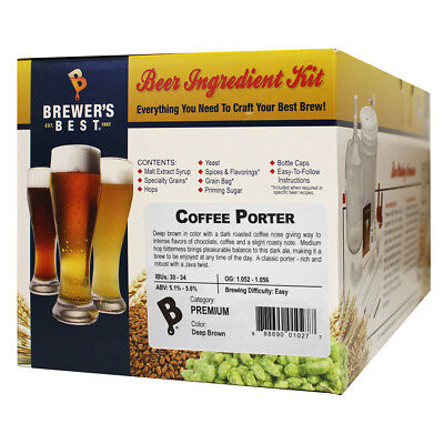 Brewer's Best Coffee Porter Ingredient Kit for Home Brew Beer