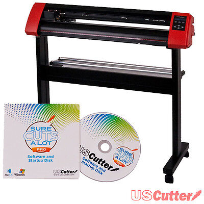 """USCutter 31.5"""" LaserPoint II Vinyl Cutter Contour Cutting w/ Stand & SCAL Pro"""
