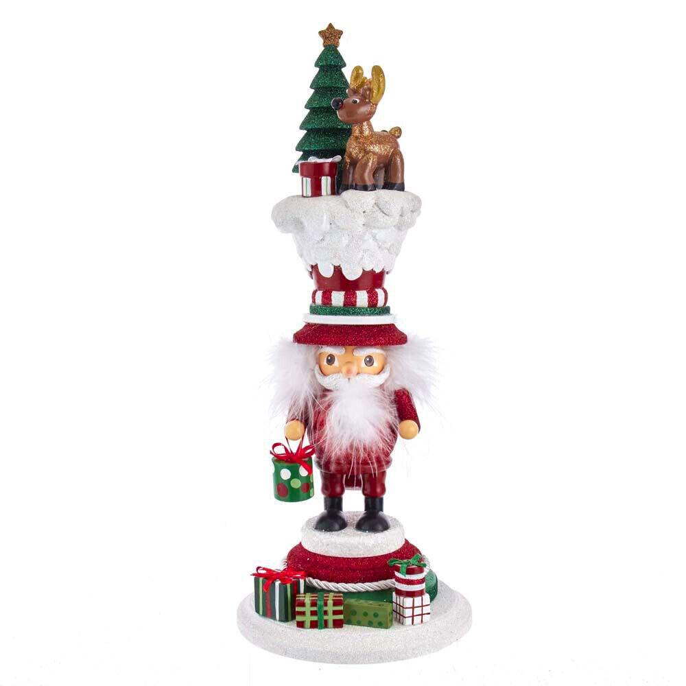 [Kurt Adler Hollywood Nutcracker - Santa's Happy Reindeer Christmas Nutcracker </Title]