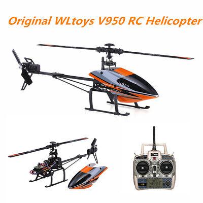 USA WLtoys V950 2.4G 6CH 6G System Brushless Motor Flybarless RTF RC Helicopter ()
