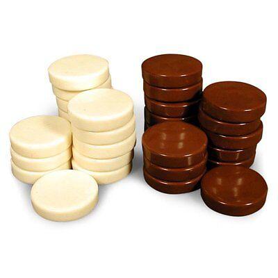 Uria stone Backgammon Checkers - Brown/White