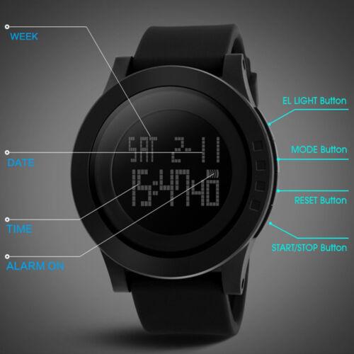 SKMEI 1142 Men Sport LED Digital Watch 50M Water Resistance