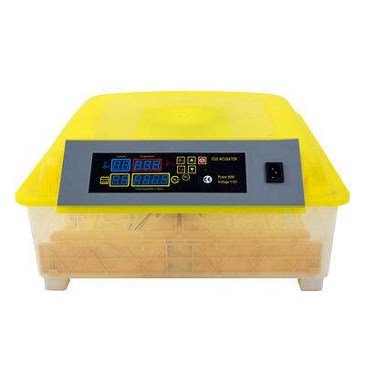 56 Eggs Incubator LED Digital Temp Control Poultry Hatcher Duck Bird 110v
