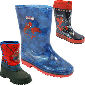KIDS-BOYS-SPIDERMAN-WINTER-SNOW-MOON-MUCKER-WATERPROOF-WELLINGTON-WELLIES-BOOTS
