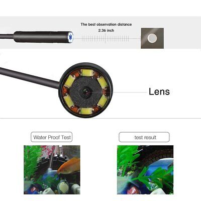5.5 Mm Android Endoscope Waterproof Snake Borescope Usb Inspection Camera 6led