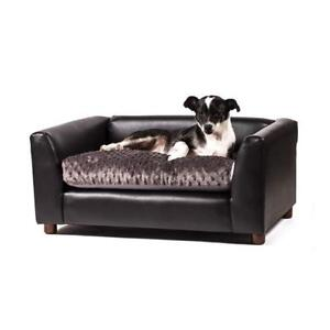 NEW Keet Fluffly Deluxe Pet Bed Sofa Charcoal Medium Condition: New
