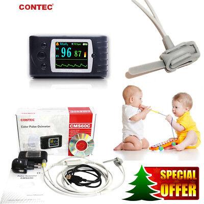 24hr Pediatric Neonate Pulse Oximeter Spo2 Probe Blood Oxygen Heart Rate Monitor