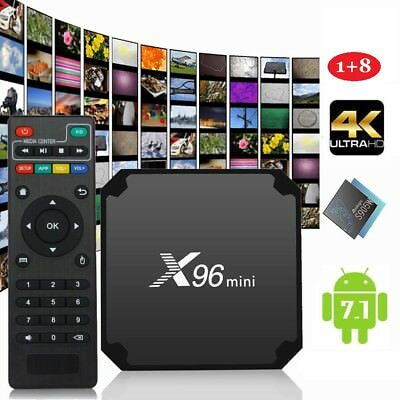 X96 mini Android 7.1 4K TV Box S905W 1G 8G 3D HD WiFi Lecteur multimédia X9W7Q