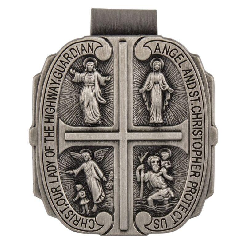 4 Way Medal Visor Clip, Sun Visor Clip, Catholic Visor Clips, Catholic Gifts