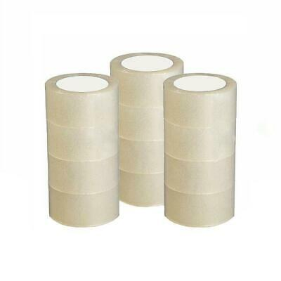 12 ROLL CLEAR CARTON SEALING PACKING SHIPPING TAPE 2.7 MIL 1.8