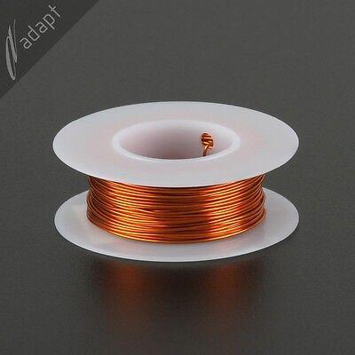 Magnet Wire, Enameled Copper, Natural, 22 AWG (gauge), 200C, ~1/8lb, 63ft