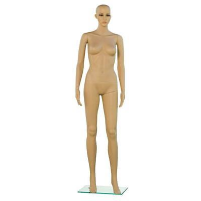 Woman Female Full Body Realistic Mannequin Display Head Turns Dress Form Stand