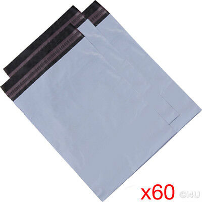 60 X MAILING BAG POSTAL MAILERS PACKAGE SHIPPING STRONG POLY MAIL BAG POST SACK