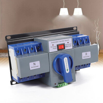 Ac110v 63a 4p Dual Power Automatic Transfer Switches For Generator Self Cast Ats