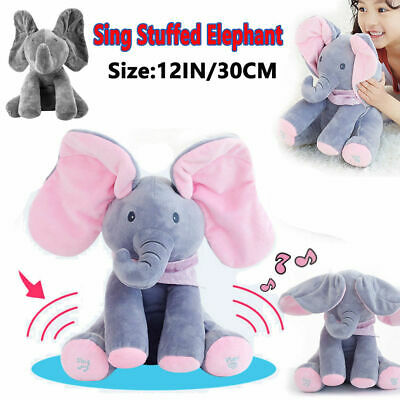 Peek-a-Boo Animated Talking and Singing Plush Elephant Stuffed Doll Toy For-Baby](Babies And Animals)