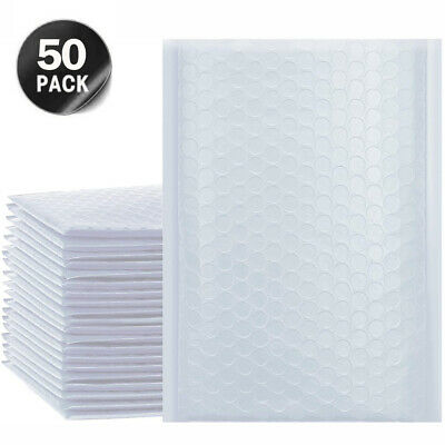 SET OF 50 Poly Mailer Padded Bubble Envelopes Mailing Packaging Shipping Bags UK