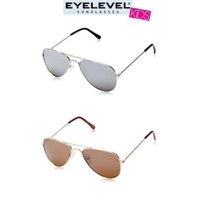 Eyelevel Kids Squadron Aviator Sunglasses Silver 100% UVA Protection