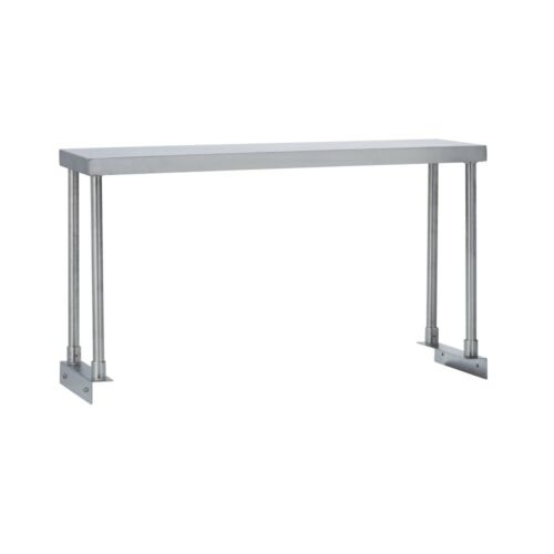 Commercial Kitchen Stainless Steel Single Overshelf for Work Tables 18X48