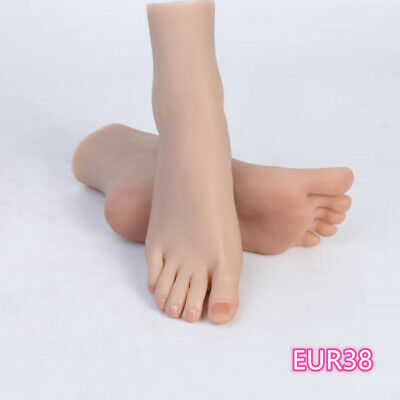 Silicone Feet Female Model Legs Lifelike Display One Left Or Right Mannequin