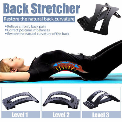 Back Muscle Stretcher Posture Corrector Support Lumbar Neck Massage Acupuncture