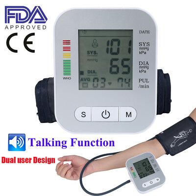 Automatic Digital Arm Blood Pressure Monitor Bp Cuff Gauge Machine Sensor Tester