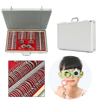 68266 Pcs Optical Trial Lens Set Metal Rim Aluminum Case 1 Free Trial Frame