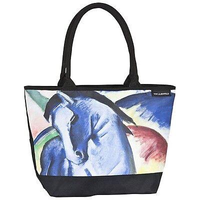 Schultertasche Umhängetasche Shopper Damen Kunst groß Franz Marc Blaues Pferd  - Pferde Schulter Tasche