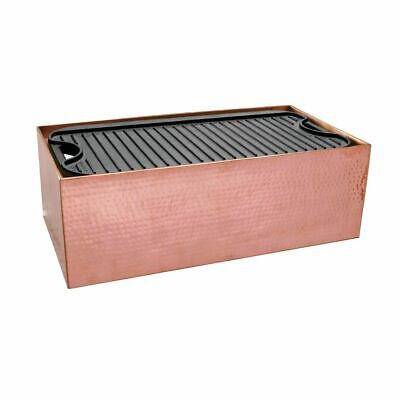 Copper Griddle Display Stand With Hammeredfinish - 22 L X 11 W X 7 H