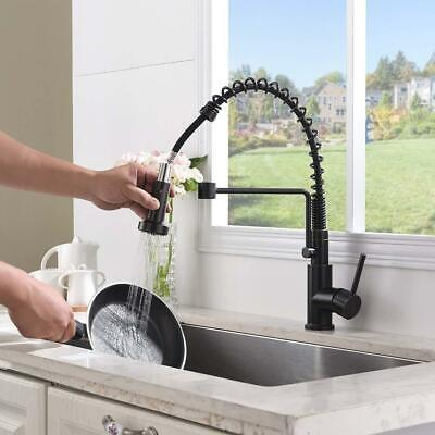 Oil Rubbed Bronze Brass Kitchen Sink Mixer Faucet Swivel Spring Pull Out Sprayer Brass Sprayer Oil Rubbed Bronze