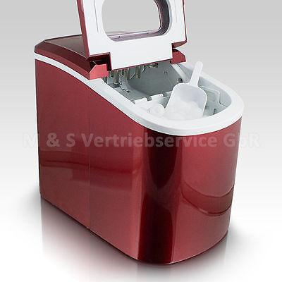 Eiswürfelmaschine Eiswürfelbereiter Eiswürfel Ice Maker Eis Maschine in Rot