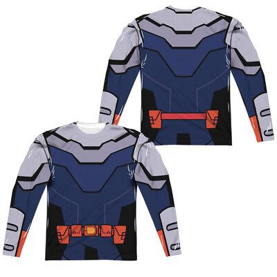 Teen Titans Slade Costume (TEEN TITANS GO SLADE UNI Adult Men's Long Sleeve Costume T-Shirt F/B)