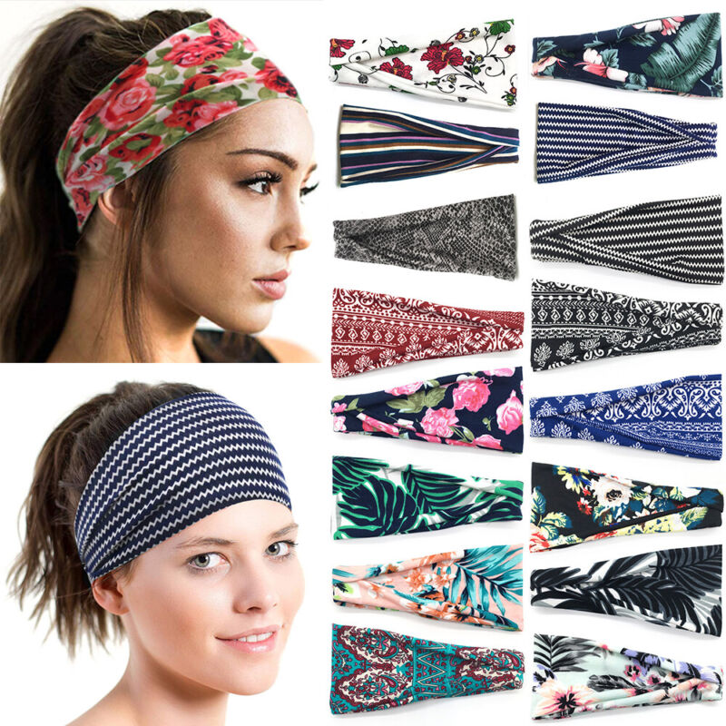 Printed Yoga Hair Bands Sport Bandana Head Wrap Women Headba