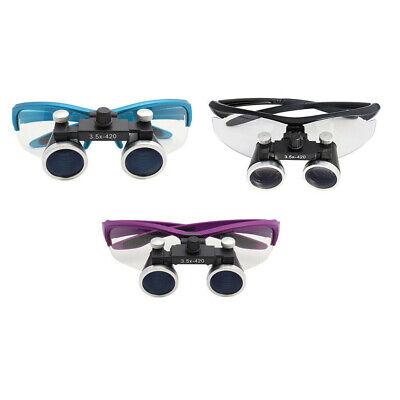 Dental Loupes Binocular Dental Magnifier Medical Surgical Glasses 2.5x3.5x420mm