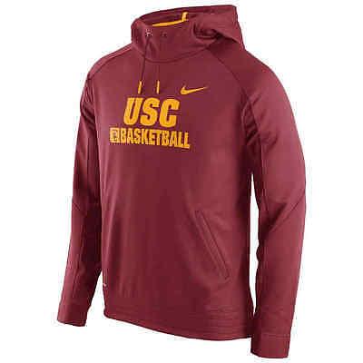 - ($75) USC Trojans NIKE Basketball HOODIE/HOODED Jersey Sweatshirt MEN'S s-small