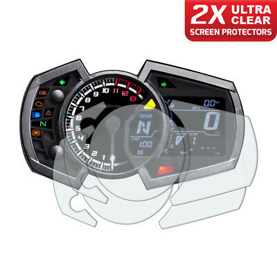 2 x Kawasaki Ninja 250 400 650 2017+ Dashboard Screen Protectors: Ultra Clear