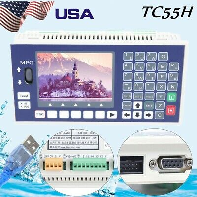 4 Axis Lcd Cnc Motion Controller System Tc55h Offline Servo Stepper 400khz
