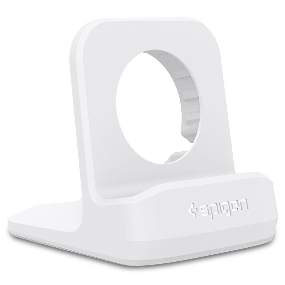 Apple Watch Night Stand Spigen® [S350] Charging Dock Station Stand Holder Cradle White